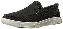 Skechers USA Mens Moogen Selden Slip-on Loafer, Black, 8. 5 M US