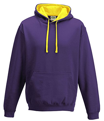 Just Hoods Varsity Sweat-shirt à capuche Lila / Sonnengelb