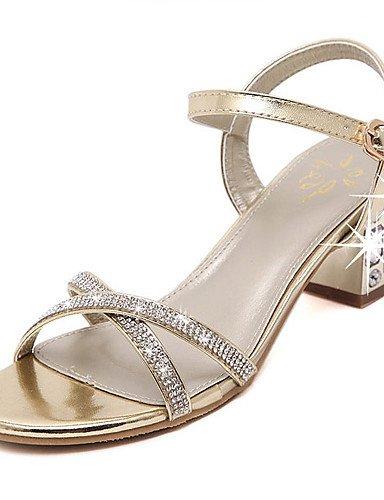 LFNLYX Scarpe Donna-Sandali-Formale-Tacchi / Plateau / Aperta-Quadrato-Sintetico-Dorato golden