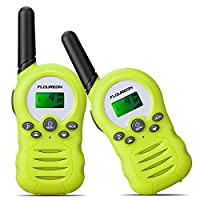 FLOUREON Kids Walkie Talkies 2 Way Radio Up to 2 Miles Range 8 Channel Twins Handheld Interphone for Outdoor Adventures Riding Hiking Camping