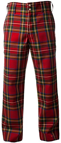 3e8ff463b3a576 I Luv Ltd Traditional Scottish Men's Trouser Trews in Stewart Royal Tartan  38