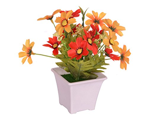 Pindia Artificial Yellow Flower Plant with Pot for Home and Office Decor (8x8x16.5, cms)  available at amazon for Rs.230