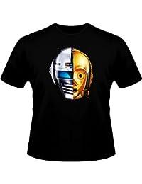 Geek T-shirt-Star Wars Parodie Daft Punk y X-Or-Geek:) lucky-Camiseta de manga corta para hombre, color negro, calidad alta