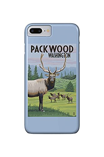 Packwood, Washington - Elk Herd (iPhone 7 Plus Cell Phone Case, Slim Barely There) -