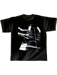 Rock You Music T Shirt Piano Hands S - M - L - XL - XXL