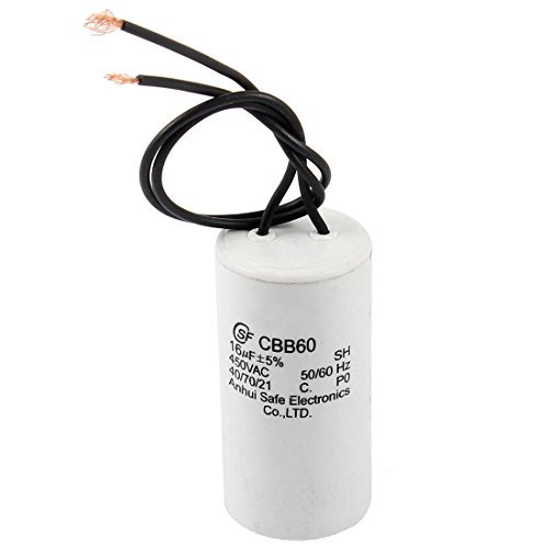 DealMux a14012000ux0551 CBB60 16uF 5% AC 450V Polypropylene Film Motor Run  Capacitor for Washer