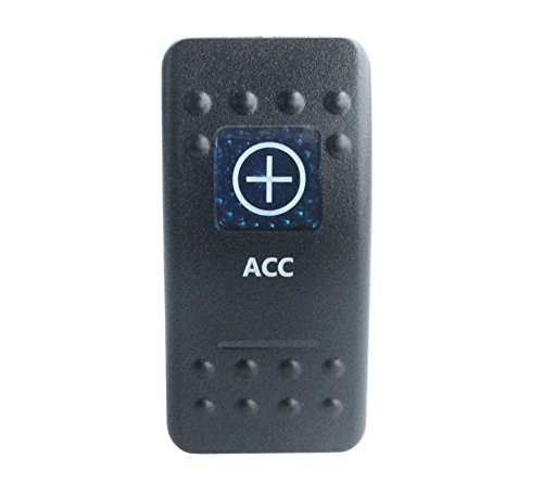 bandc Marine Grade Auto Boot ACC Wippschalter Blau LED 5Pin SPST ON-OFF-Wasserdicht IP68 -
