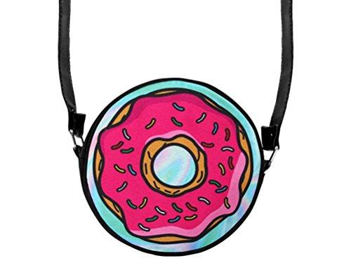 Donut bunt Handtasche Tasche Umhängetasche rund (Cupcake-handtasche)