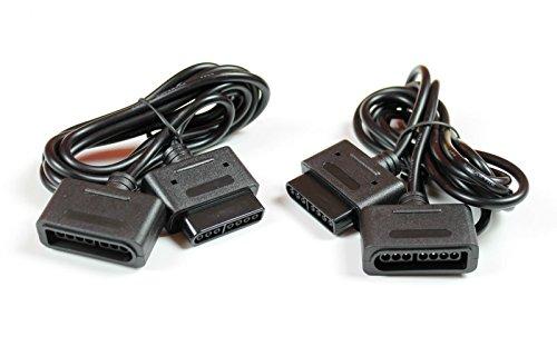 2x Super Nintendo Controller,Gamepad,Verlängerungskabel für Nintendo SNES