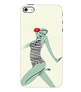 PrintDhaba Crazy Girl D-2884 Back Case Cover for APPLE IPHONE 5S (Multi-Coloured)