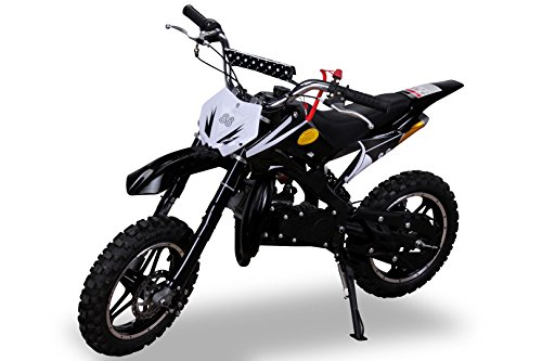 Kinder Mini Crossbike Delta 49 cc 2-takt Dirt Bike Dirtbike Mini Bike Pocket Cross schwarz