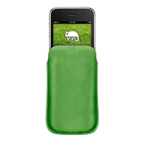 Katinkas KATIP31064 Ledertasche für Apple iPhone 3G/3GS Pouch grün Iphone 3g Leder-holster