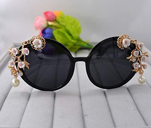 Polarisierte Sonnenbrille mit UV-Schutz Graceful handgemachte metall blume barock sonnenbrille für frauen kristall und perle modenschau stil sonnenbrille strand sonnenbrille. Superleichtes Rahmen-Fisc