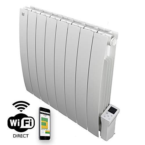 Radiador eléctrico Smart Wi-fi Deltacalor Caldo 1500 W. Termoconvector de pared de bajo...