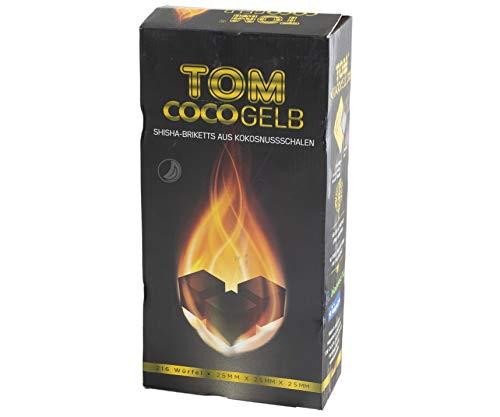 TOM Cococha Kokoskohle Gelb 3kg für Shisha und BBQ