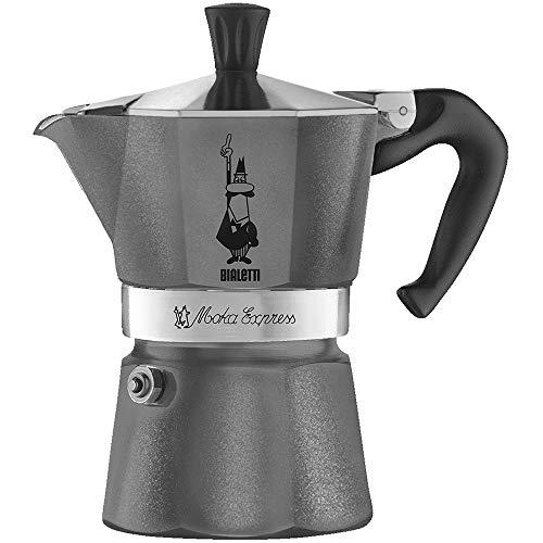 Bialetti Moka Express Gris - Cafeteras italianas (Gris, 6 tazas, Aluminio, 1 pieza(s))