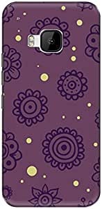 The Racoon Lean printed designer hard back mobile phone case cover for HTC One M9. (cute doodl)