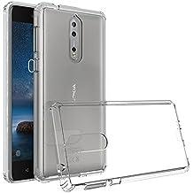 Custodia Clear per Nokia 8 di Xiu7, design ultrasottile e leggero-Trasparente