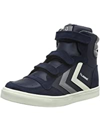 Hummel Stadil Leather Jr, Sneakers Hautes Mixte Enfant