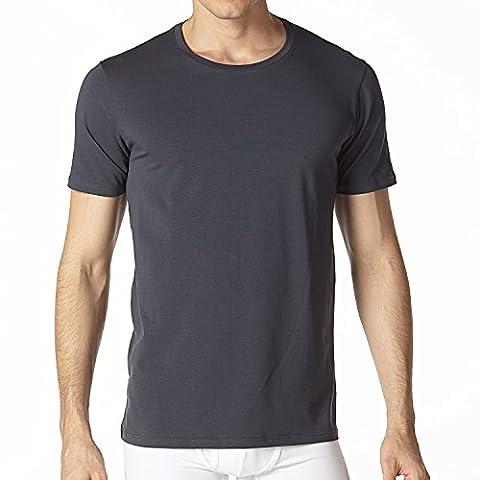 Lapasa Men's 2 Pack T-shirts - PREMIUM ELS COTTON - Super Soft Stretch Crew-Neck Undershirts Slim Fit Vests
