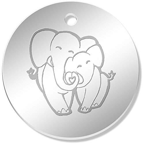 Azeeda 11 x 34mm 'Amor Elefantes' Colgante Reflejado (PN00052073)