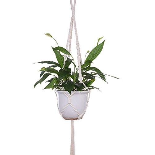 80 Medium Natural (FENGRUIUI Pflanze Haken zum Aufhängen Blumentöpfe Halter String Natural handmade Aufhängen Seil Wand Art Home Garten Balkon Decor 100cm 80g)