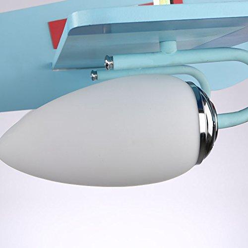 Guo Kinderzimmer-Lichter Jungen-Raum-Flugzeug-Lichter Kronleuchter-Pers5onlichkeit-kreative Lampen E14 Lampen-Hafen - 2