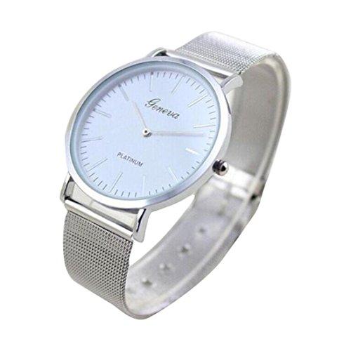 Amlaiworld Orologio da polso per Donne, Cristalli di quarzo Faux cronografo placcato Classic rotonda della vigilanza (argento)