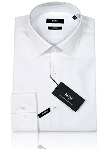 HUGO BOSS Business-Hemd | Jenno ( Slim Fit ) weiß/white (38 | S) (Weiße Jeans, Hugo Boss)
