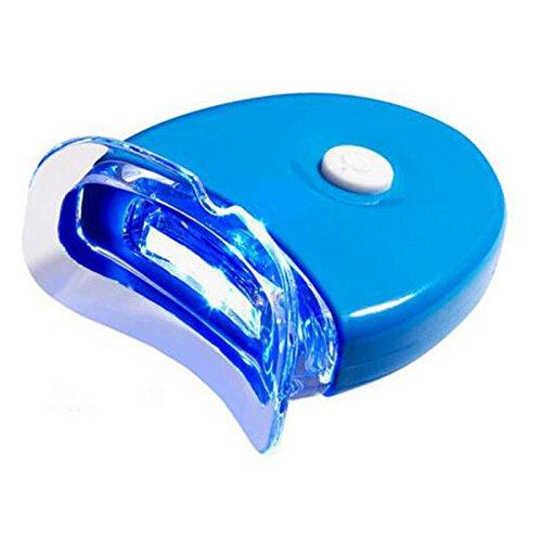 Bluelover Mini Led Blanchissant Les Dents Lampe De Lumière Soin Oral Avec 2 Batteries