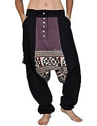 virblatt pantalones cagados jersey largo en 2 colores con una entrepierna  baja como ropa hippie y pantalones bombachos para trotar de virblatt M… 983ecd746957