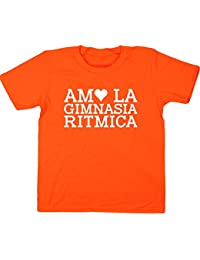 HippoWarehouse Amo LA Gimnasia Ritmica Camiseta Manga Corta Niños Niñas Unisex