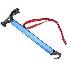 Tienda de Campaña al Aire Libre Peg Stake Hammer Extractor de Uñas Extractor Herramienta Multifuncional con Mango de Aluminio ( Color : Azul )