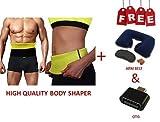 MARK AMPLE Best Quality Unisex Body Shaper for Women | Men Weight Loss Tummy - Body Shaper Belt Slimming Belt Waist Fitness Belt XXL Size 40,41,42,43,44 of Stomach Size consider. FREE NECK PILLOW & OTG