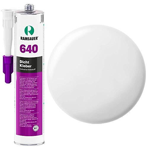 Ramsauer 640 Dicht Kleber 1K Hybrid Dichtstoff 310ml Kartusche (Weiß) -