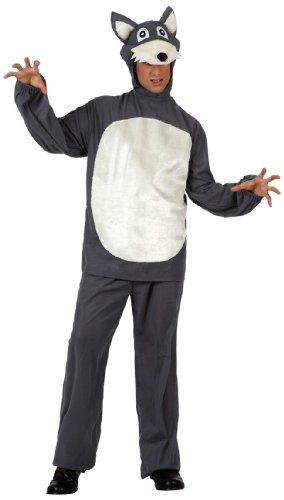 Imagen de atosa  disfraz de lobo para hombre, talla m/l 10177