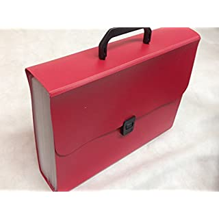 Ardisle 24 Pocket Expanding Box File Organiser A4 Documents Paper Folder Case (Red)
