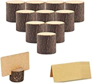 SUNTRADE Wood Place Card Holders, Table Numbers Holder Stand for Wedding Party Table Name and More,Pack of 10