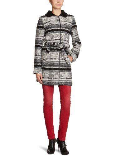 VILA CLOTHES Wollmantel, 14009619 LUVE COAT, Gr. 40 (L), Mehrfarbig (OFF WHITE / COMBO)