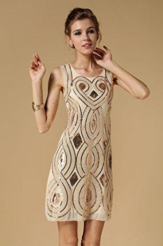 Babeyond Damen Flapper Kleid mit langem Troddel Great Gatsby Mottoparty Frauen Knielang Kleid Größe S Abbildung 2