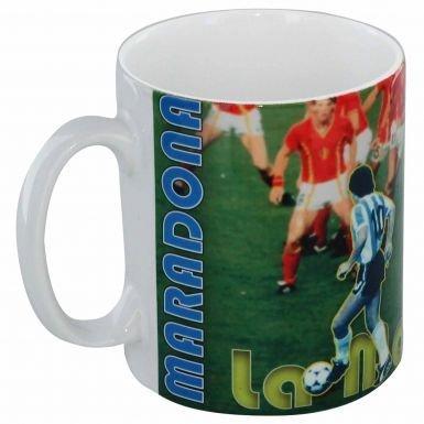 Diego Maradona - Taza con leyenda de fútbol