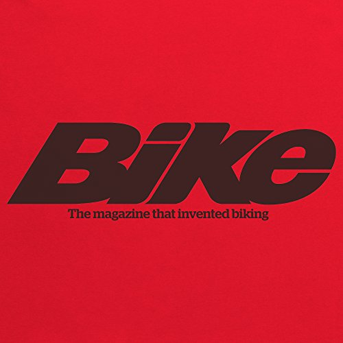 Official Bike Magazine Noughties Logo T-Shirt, Herren Rot