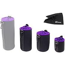WITHLIN Étui épaisse pour appareil photo Housse souple en peluche et néoprène pour appareil photo SLR Lentille DSLR (Canon Nikon Fuji Panasonic Sony Olympus Pentax, etc.) (S+M+L)