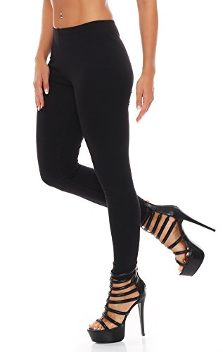 Leggings / Leggins Damen Nr. 412 ( Schwarz / M ) - 2