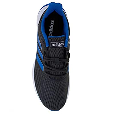 adidas G28971 Falcon Herren Sportschuh Mesh mit Besätzen dämpfende Laufsohle,Dunkelgrau/Blau,42.6666666666667