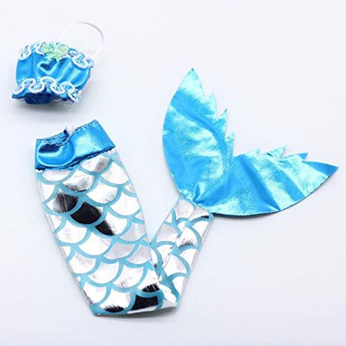 djryj Pragmatic 6 Farben Schön Meerjungfrau Rücken Badeanzug Kleid Ersatz Anzug für 29Cm 11 Inches Puppe Kinder Mädchen Spielzeug - Blau -