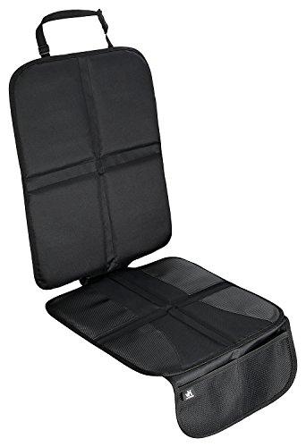 van Klaasen Premium Autositzauflage – Kindersitzunterlage Isofix geeignet, Autositzschoner mit Organizer