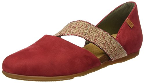 El Naturalista Damen Nd57 Pleasant Stella Closed-Toe Sandalen Rot  Rot (Tibet)
