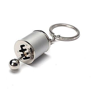 GOZAR 4 Farben Auto Auto Tuning Teil Chrome Finish Getriebe Schalthebel Schlüsselanhänger Fob Ring Turbine Nos Keychain-Silber