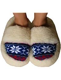 100% Merino Lana di Pecora Pantofole Cozy Piede in Pelle di Pecora da Donna 6372d402095